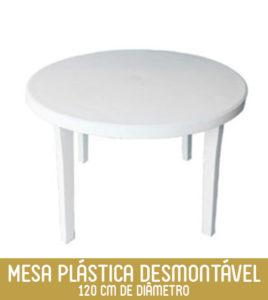 Imagem Mesa Redonda de Plástico 6 pessoas