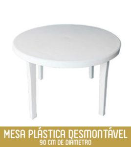 Imagem Mesa Plástica Redonda Desmontável