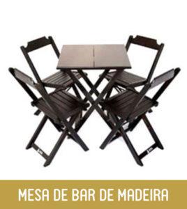 Imagem Mesa de Bar de Madeira Dobrável