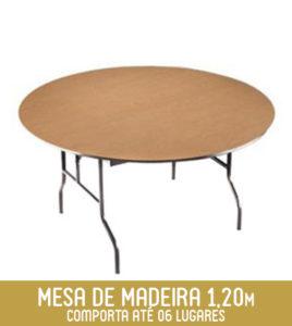Imagem Mobília Redonda 1,20m
