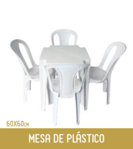 Imagem Mesa de plástico 4 lugares