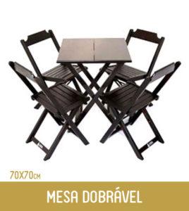 Imagem Mesa dobrável de madeira